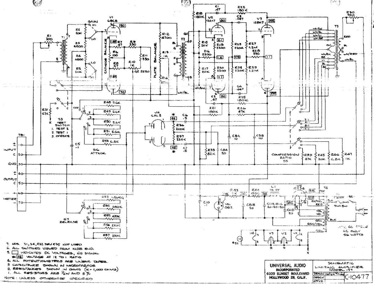 universal audio 177 schematic Audio Equalizer Schematic