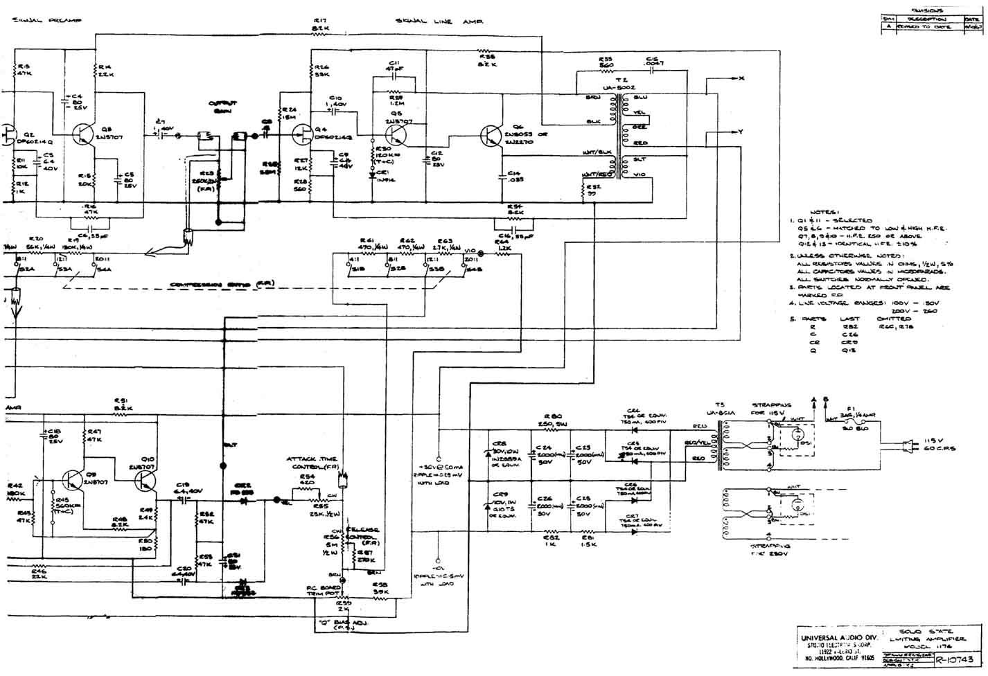 urei 1176 schematic