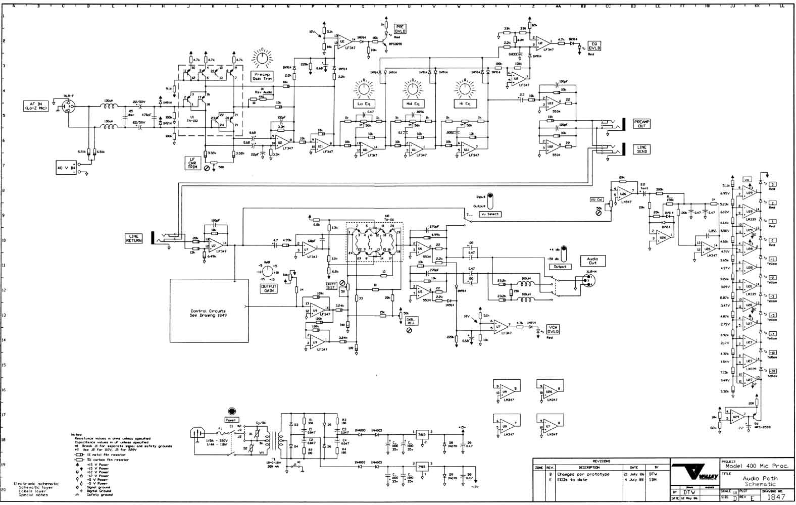 valley 400 mic processor schematic A5 Processor Schematic